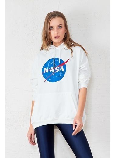 EKA Nasa Baskılı Sweatshirt Beyaz
